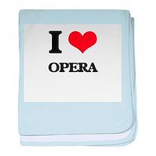 I Love Opera baby blanket