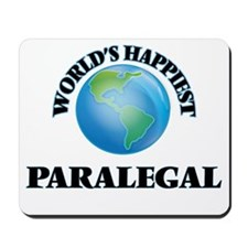 World's Happiest Paralegal Mousepad