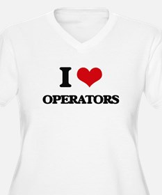 I Love Operators Plus Size T-Shirt
