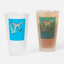 Swans Drinking Glass