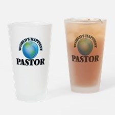 World's Happiest Pastor Drinking Glass