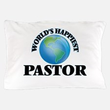World's Happiest Pastor Pillow Case