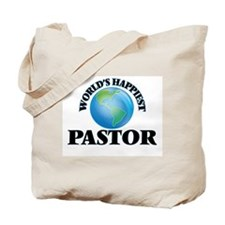 World's Happiest Pastor Tote Bag