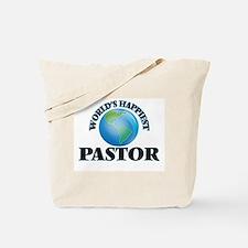 World's Happiest Pastor Tote Bag