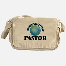 World's Happiest Pastor Messenger Bag