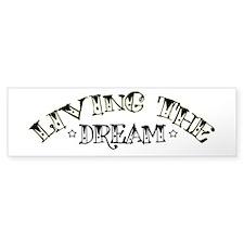 Living The Dream Bumper Car Sticker