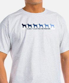 Curly Coated Retriever (blue  T-Shirt