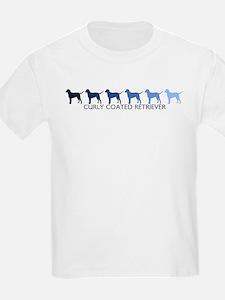 Curly Coated Retriever (blue  T-Shirt