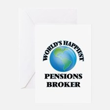 World's Happiest Pensions Broker Greeting Cards