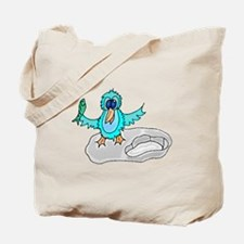 Bird With Fish Tote Bag