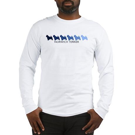 Norwich Terrier (blue color s Long Sleeve T-Shirt