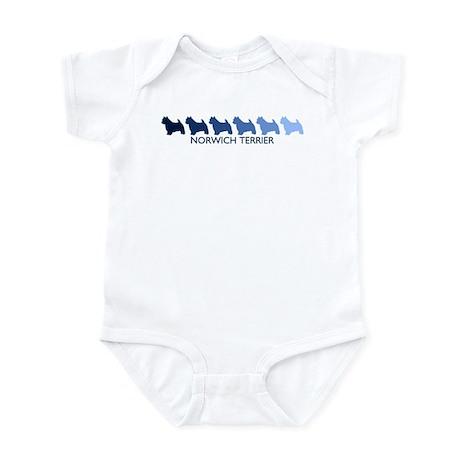 Norwich Terrier (blue color s Infant Bodysuit