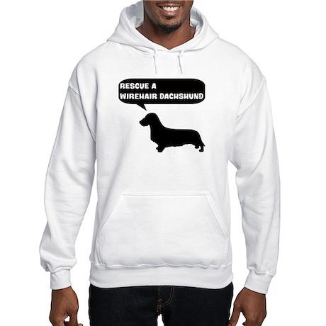 Rescue a Wirehair Dachshund Hooded Sweatshirt