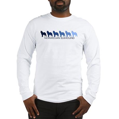 Norwegian Elkhound (blue colo Long Sleeve T-Shirt