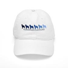 Norwegian Elkhound (blue colo Baseball Cap