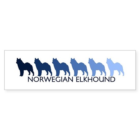 Norwegian Elkhound (blue colo Bumper Sticker