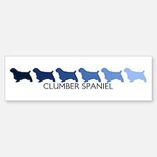 Clumber Spaniel (blue color s Bumper Bumper Bumper Sticker