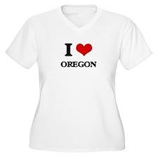 I Love Oregon Plus Size T-Shirt