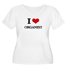 I Love Organist Plus Size T-Shirt
