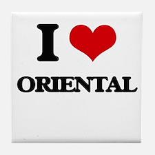 I Love Oriental Tile Coaster
