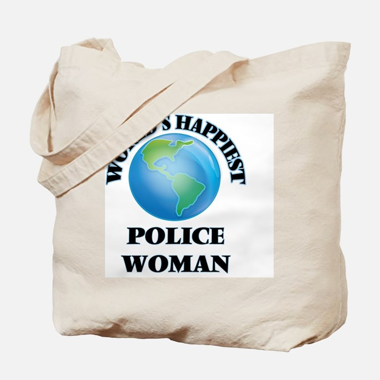 World's Happiest Police Woman Tote Bag