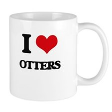 I Love Otters Mugs