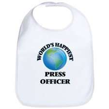 World's Happiest Press Officer Bib