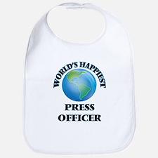 World's Happiest Press Officer Bib