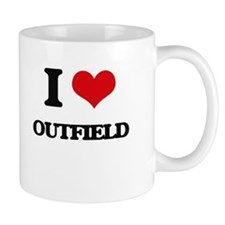 I Love Outfield Mugs