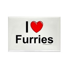 Furries Rectangle Magnet