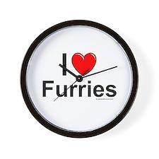 Furries Wall Clock