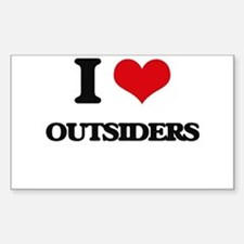 I Love Outsiders Decal