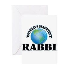World's Happiest Rabbi Greeting Cards