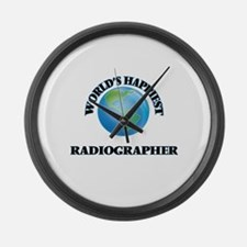 World's Happiest Radiographer Large Wall Clock