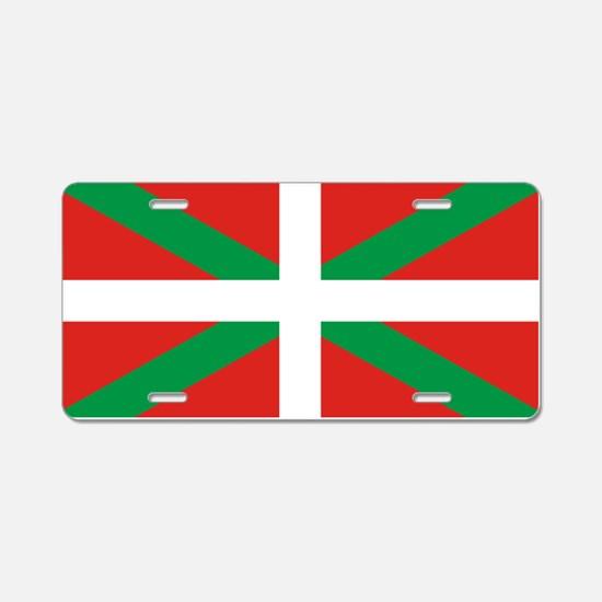 The Ikurriña, Basque flag Aluminum License Plate