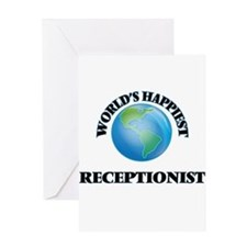 World's Happiest Receptionist Greeting Cards