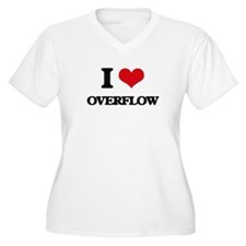 I Love Overflow Plus Size T-Shirt