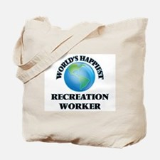 World's Happiest Recreation Worker Tote Bag