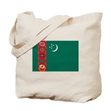 Turkmenistan Flag Tote Bag