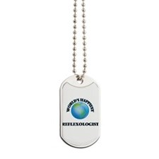 World's Happiest Reflexologist Dog Tags