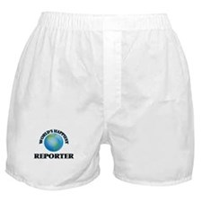 World's Happiest Reporter Boxer Shorts