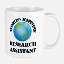 World's Happiest Research Assistant Mugs