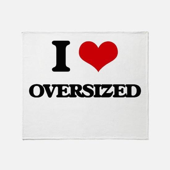 I Love Oversized Throw Blanket