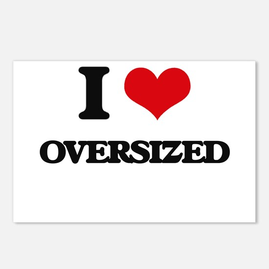 I Love Oversized Postcards (Package of 8)
