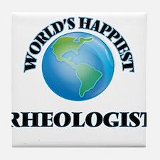 World's Happiest Rheologist Tile Coaster