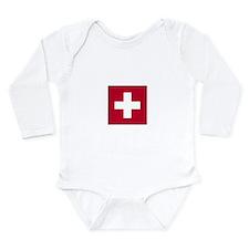 Cute Switzerland pride Long Sleeve Infant Bodysuit
