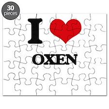 I Love Oxen Puzzle