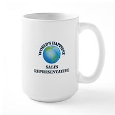 World's Happiest Sales Representative Mugs