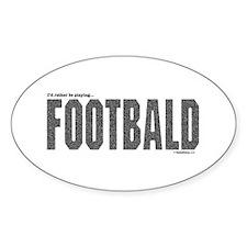 Footbald Oval Decal