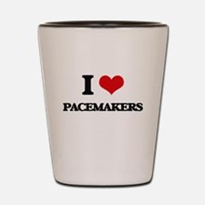 I Love Pacemakers Shot Glass